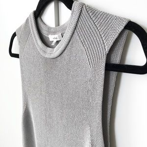 Wilfred grey Palmier knit tunic sweater